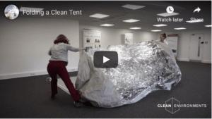 Folding a Clean Tent