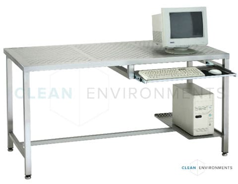 Stainless steel computer bench