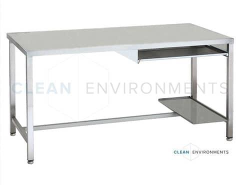 Stainless steel cleanroom desk