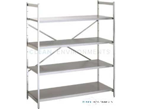 stainless solid shelves