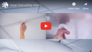 Clean Tent ceiling clips