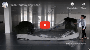 Clean Tent training video
